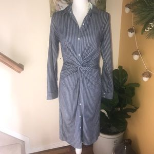Stitch fix Nola striped midi shirt dress size M